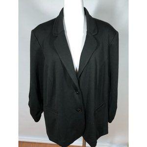 Avenue Black Blazer Ruched Sleeve 22/24